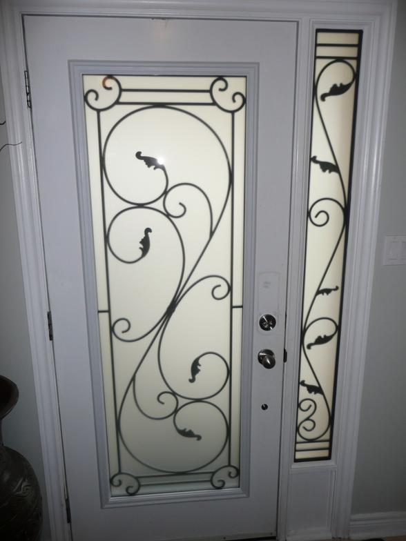 Glass Entry Door Inserts Wrought Iron Glass Door Inserts