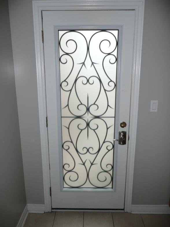 GLASS ENTRY DOOR INSERTS WROUGHT IRON GLASS DOOR INSERTS STAINED GLASS DO